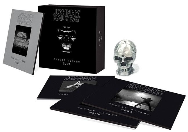 rester vivant tour johnny hallyday collector coffret cd. Black Bedroom Furniture Sets. Home Design Ideas