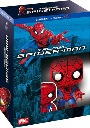 Spider-Man-Trilogie--figurine-funko-Pop-coffret-Blu-ray--Digital-HD