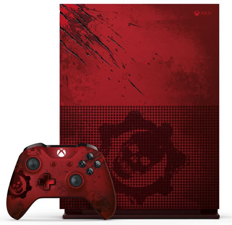 Console-Xbox-One-S-2To-édition-limitee-Gears-Of-War-4--rouge