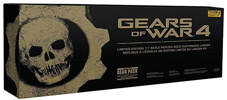 Coffret-collector-arme-Gears-OF-Wars-4-edition-limitee-Lanzor-Or