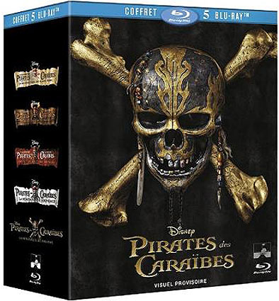 Coffret-integrale-pirates-des-caraibes Blu-ray DVD 2017