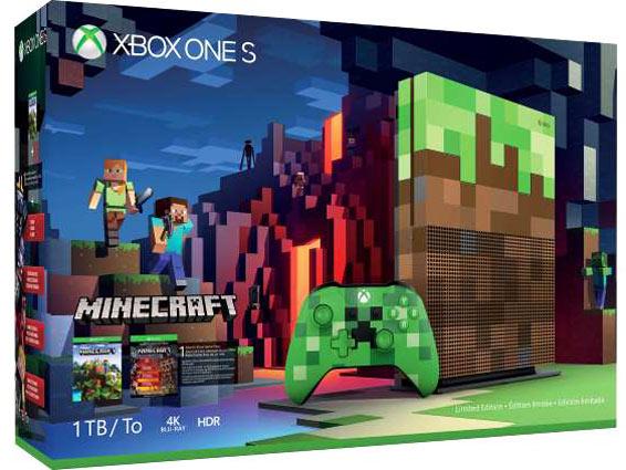 Xbox One S Minecraft Xbox-One-S-ediiton-limitee-Minecraft-pack-bundle