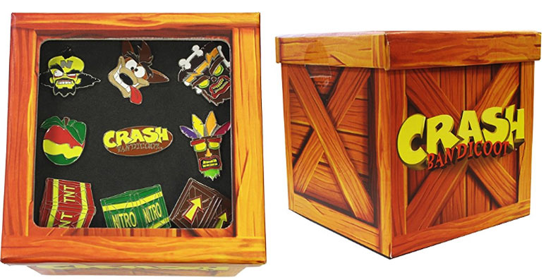 Coffret-pins-Collection-Crash-Bandicoot-collector-pins