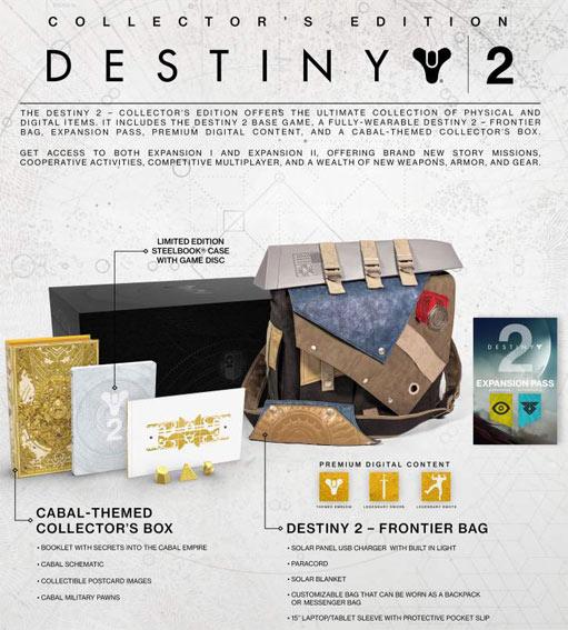 Destiny 2 Collector's et Limited edition Destiny-2-Coffret-collector-edition-limitee-sac-PS4-Xbox
