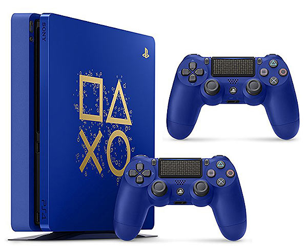 Console-ps4-edition-limitee-Bleu-Or-days-of-play-2018