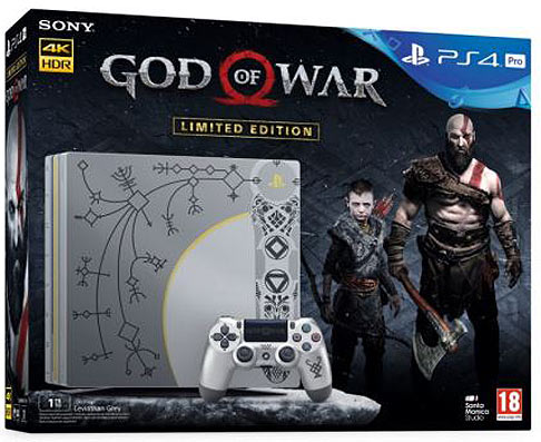 Console-Sony-PS4-Pro-God-Of-War-manette