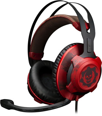 Casque-Xbox-One-gers-of-war-edition-limitee-Noir-rouge-Hyper-x-cloudx-Pro