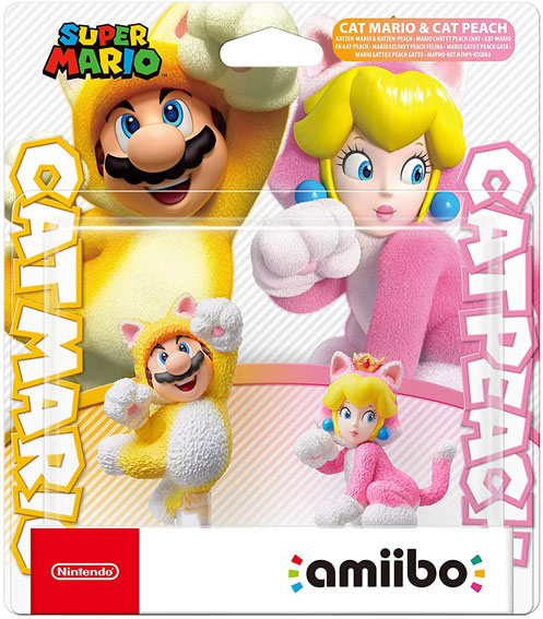 Amiibo super mario bros catmario catpeach peach 2020