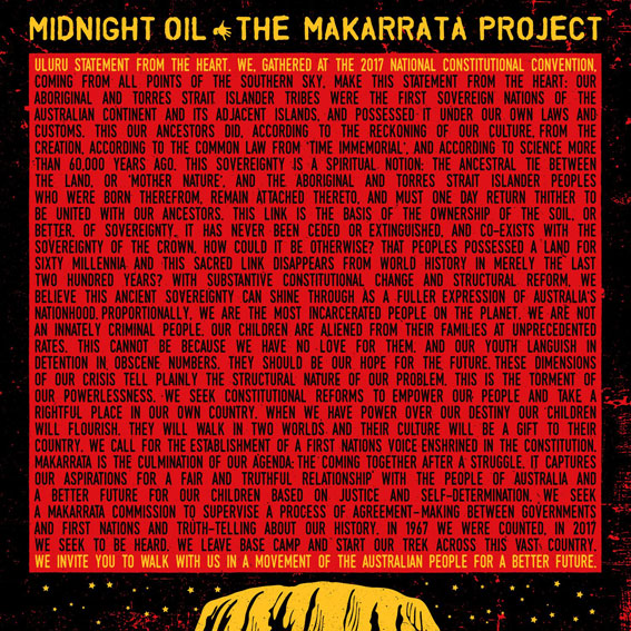 Midnight oil makarrata project CD Vinyle LP