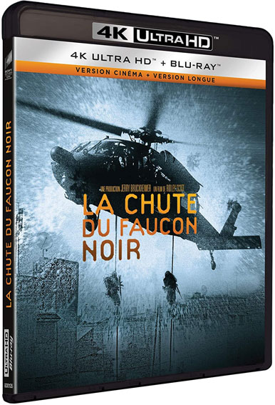 la chute du faucon Noir Bluray 4K Ultra HD UHD film guerre
