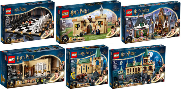 lego harry potter figurine 20 years collection dore or gold