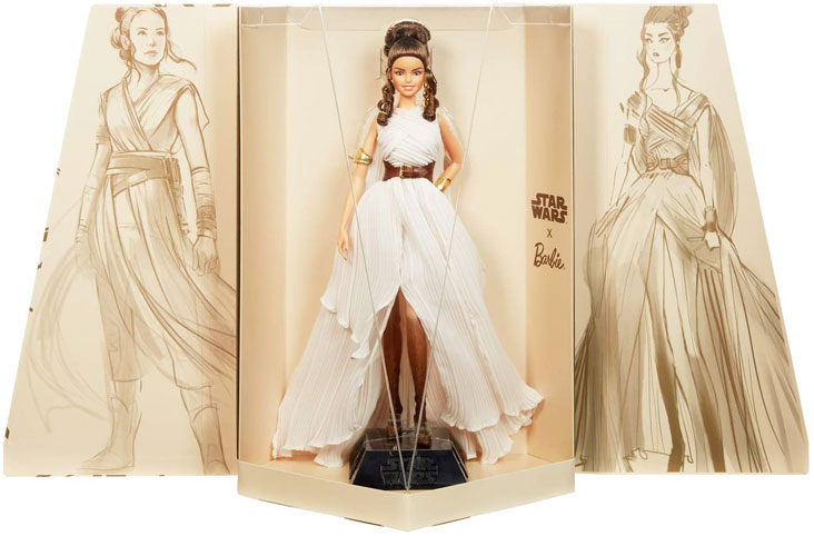 Figurine star wars rey edition limitee barbie signature