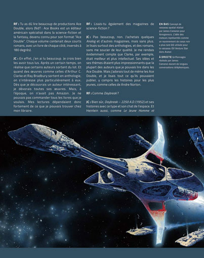 exemple page artbook james cameron