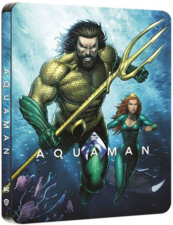 Aquaman steelbook Blu ray 4K Comics edition 2020