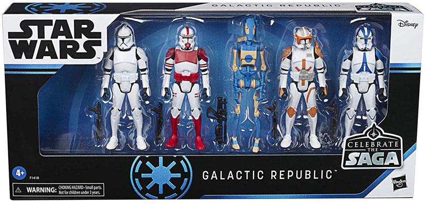 Pack figurines star wars galactic Republic