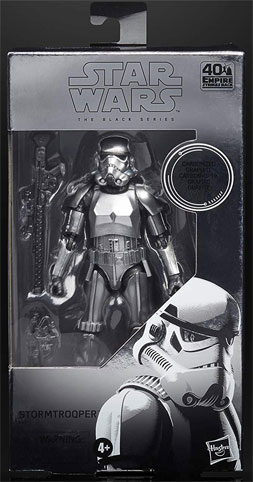 Carbonized figurine stormtrooper black series Star Wars figure collector