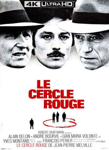 le cercle rouge Blu ray 4K Ultra HD melville delon