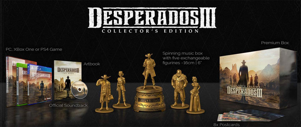 Desperados 3 coffret collector edition limitee PS4 Xbox PC