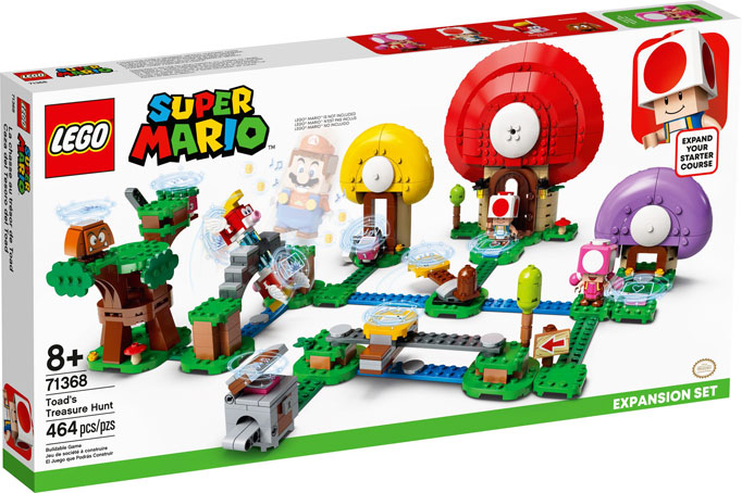 Toads Treasure hunt chasse tresor LEGO Super Mario 71368