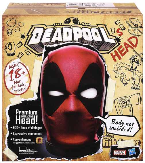 deadpool head tete marvel hasbro collection premium interactive