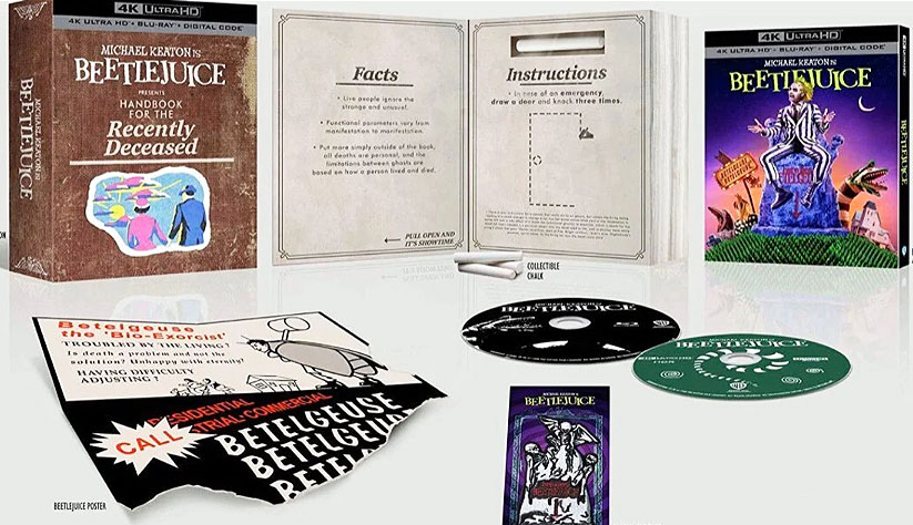 Beetlejuice bluray 4k coffret collector edition limitee