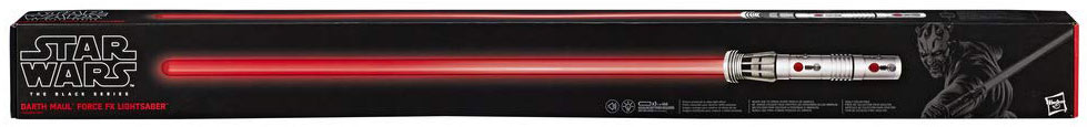 Sabre laser dark maul darth maul light saber black series