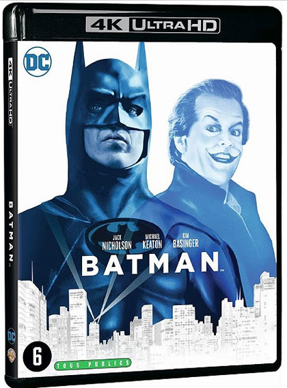 Batman 1989 Blu ray 4K Ultra HD