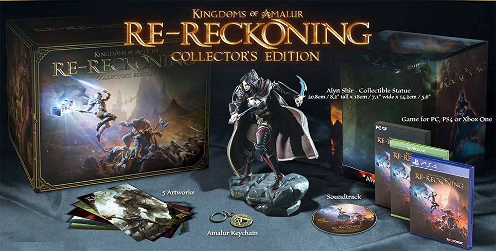 RE Reckoning edition collector PS4 xbox 2020 coffret figurine steelbook