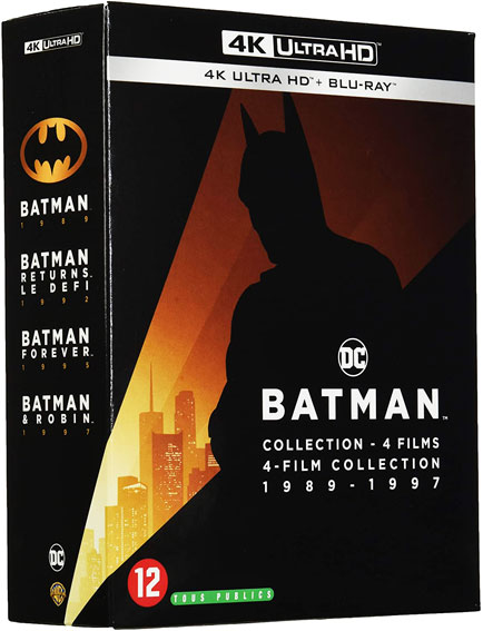 conffret integrale batman 1989 1997 Blu ray 4K Ultra HD