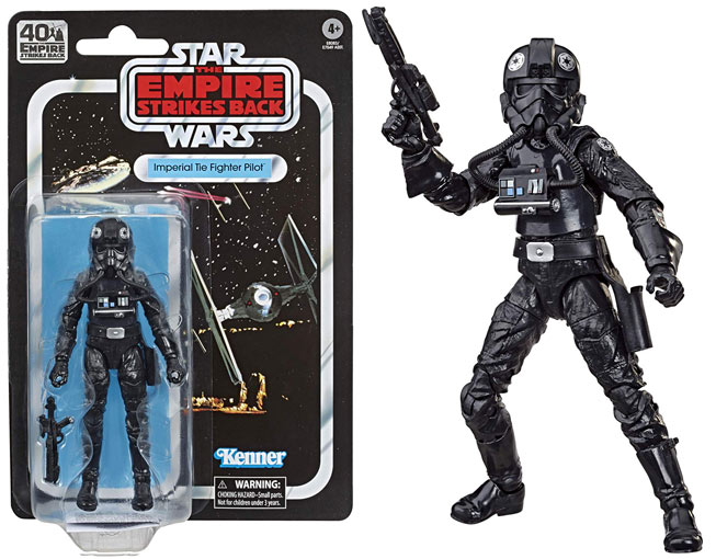 imperial tie fighter pilote figurine star wars black series 40th anniversary