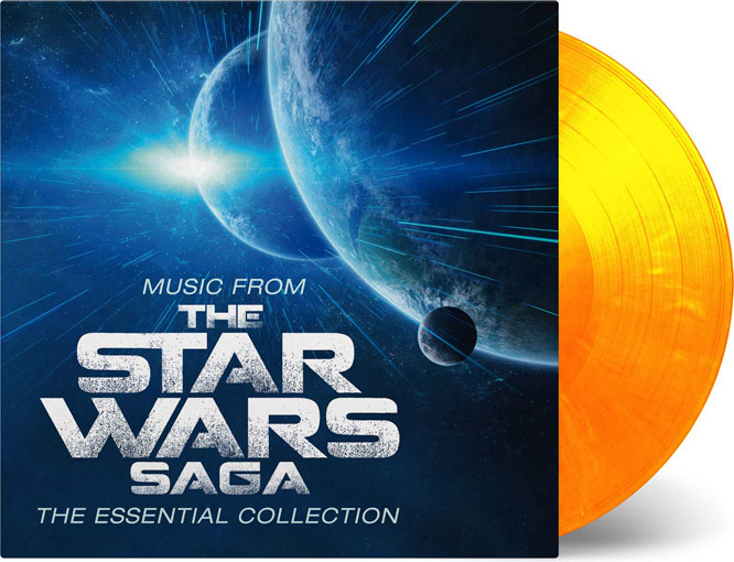 Star Wars music from the star wars saga vinyle lp jaune