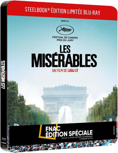 Steelbook les miserables edition limitee bluray DVD court metrage film fnac