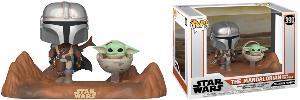 funko pop mandalorian et baby yoda the child