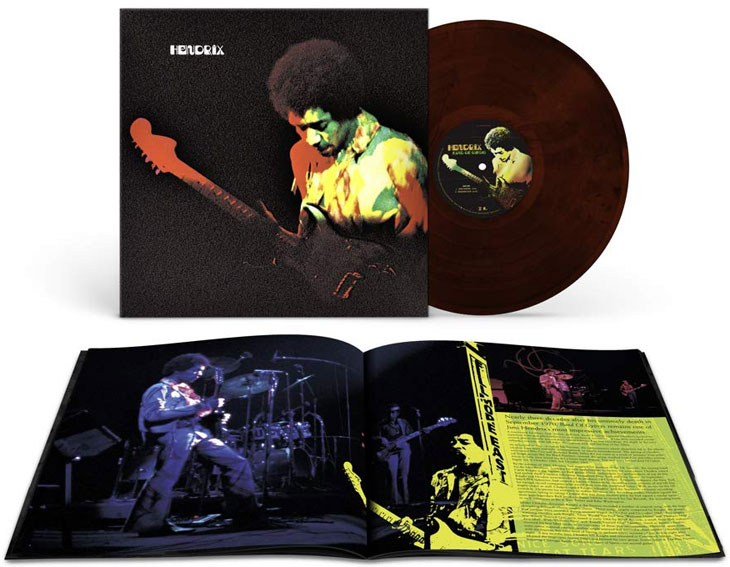 Jimmy hendrix 50th band of gypsys vinyl LP edition limitee