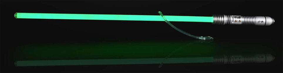 star wars Black Series sabre laser Lightsaber vert green