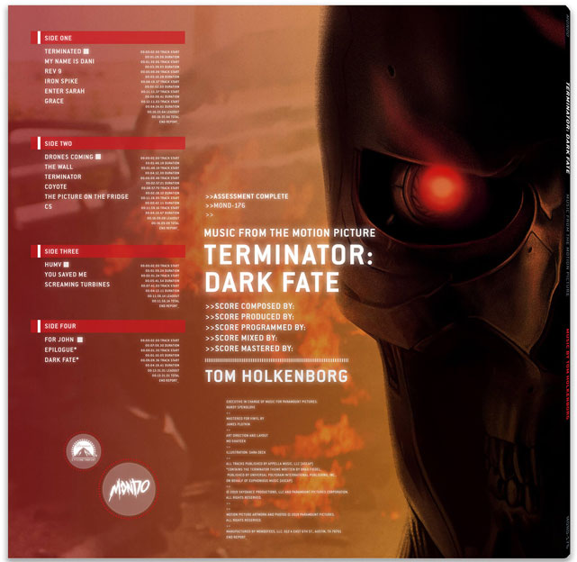 Terminator dark fate vinyle lp