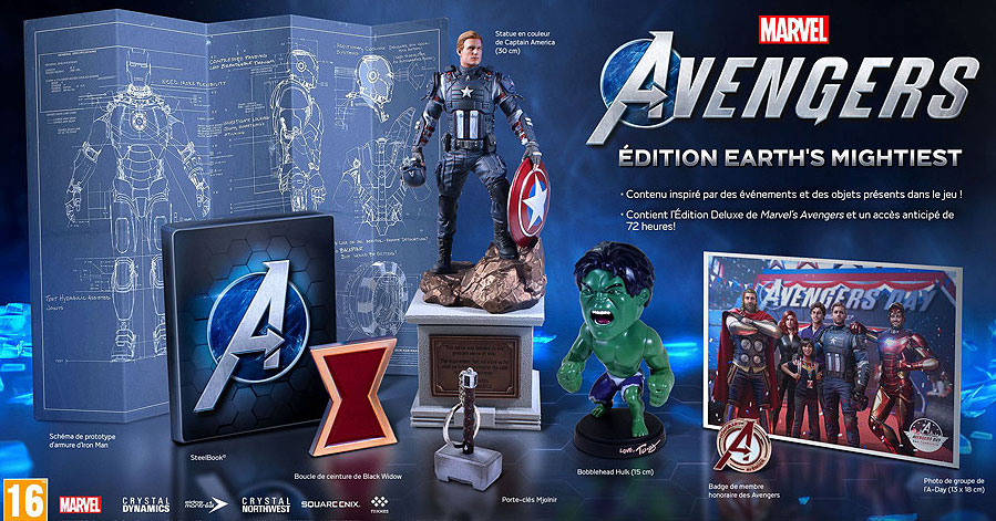 Marvels avengers earth mightiest edition collector figurine steelbook