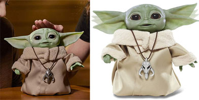 0 baby yoda animatronique