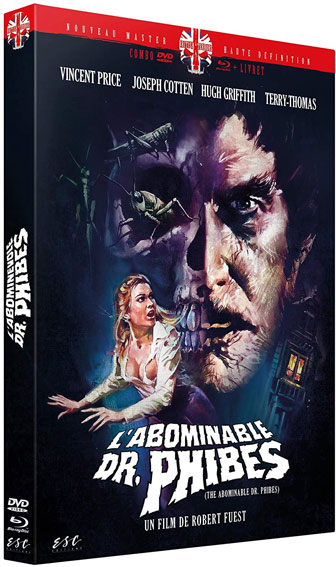 Abominable docteur phibes Blu ray DVD version restaure edition collector