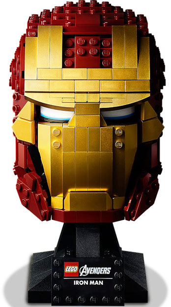 casque LEGO iron man avengers