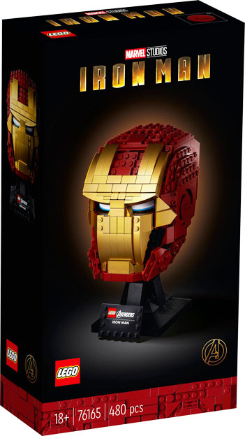 casque iron man Lego collector 76165
