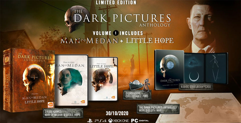 dark picture anthology edition limitee ps4 xbox pc steelbook
