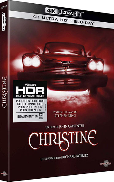 Christine Bluray 4K ultra HD