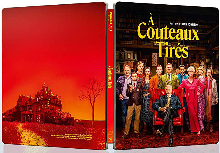 a couteaux tires Steelbook collecto Bluray 4K ultra HD edition limitee