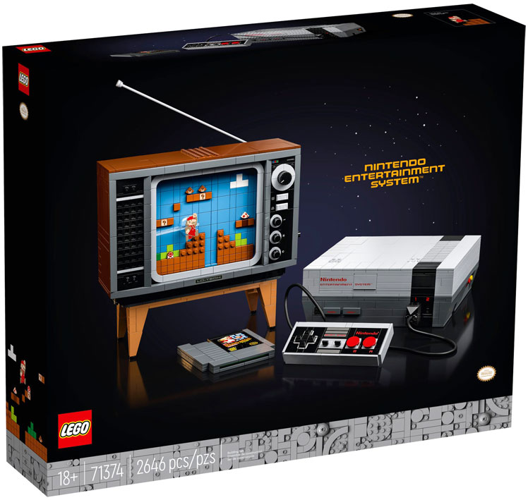 Nintendo LEGO Nes console 71374 collection achat