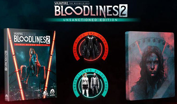 Bloodlines 2 vampire unsanctioned edition steelbook PS4 Xbox