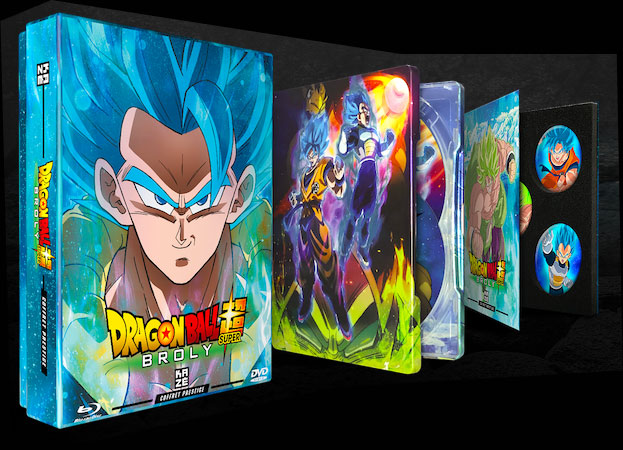 coffret collector super broly dragon ball z super Steelbook
