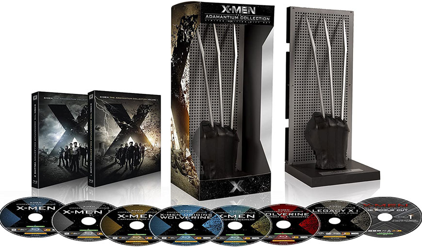 griffe adamantium wolverine coffret collector x men Blu ray integrale