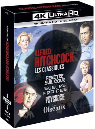 films hitchcock blu ray 4k ultra HD coffret collector edition limitee