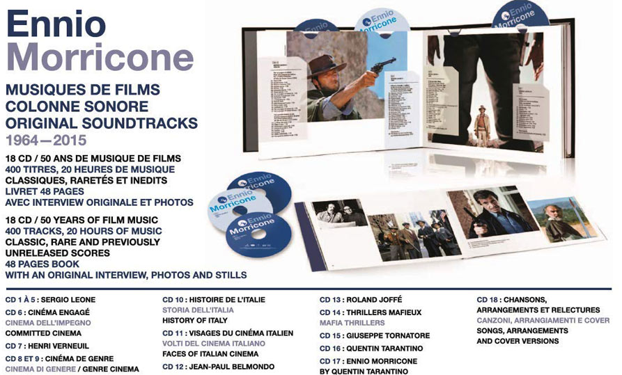 ennio morricone box collection 50 ans 18CD 50 years